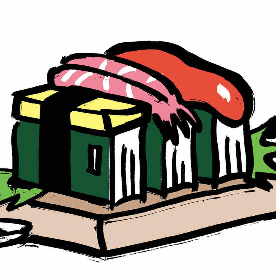 Illustration: Sushi made of books