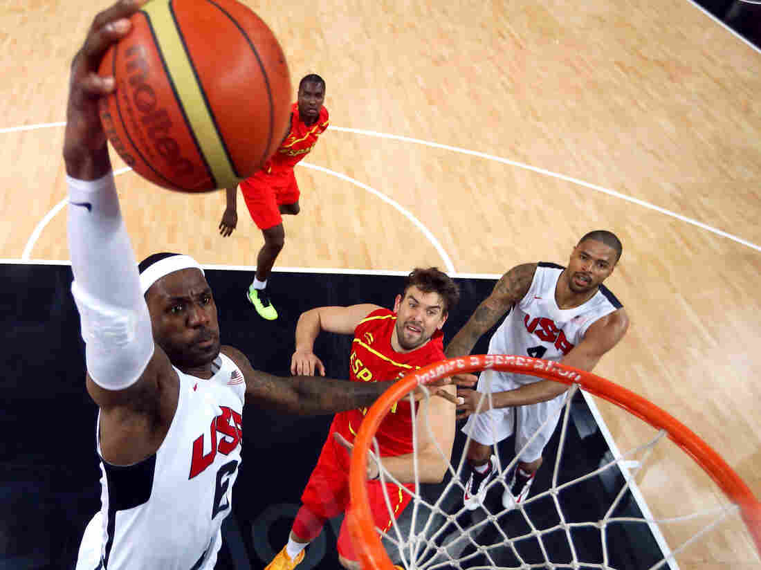 LeBron James, during last summer's Olympics in a game against Spain.