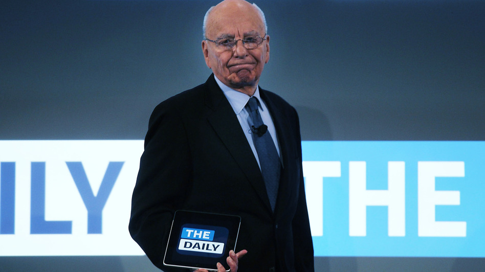 News Corp. CEO Rupert Murdoch in February 2011, when The Daily was launched. Now, it's in shutdown mode. (Getty Images)