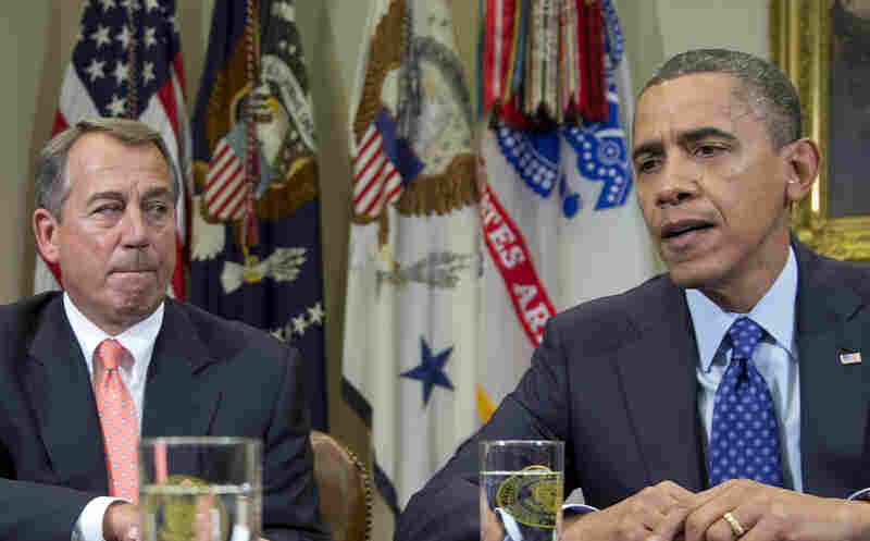 President Obama and House Speaker John Boehner on Nov. 16.