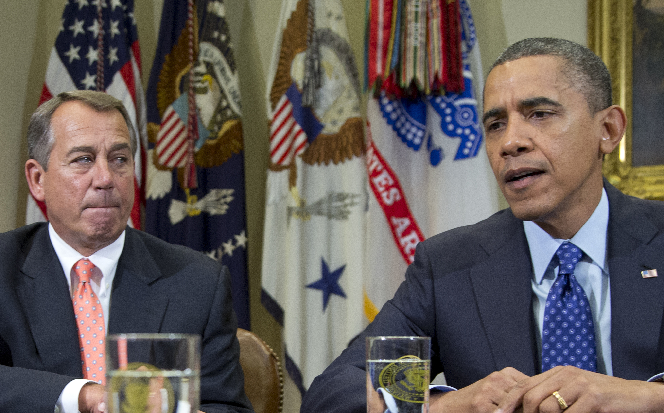 Obama and Boehner discuss the fiscal cliff and how to save the housing market