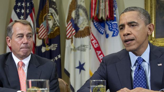 President Obama and House Speaker John Boehner on Nov. 16. (AP)