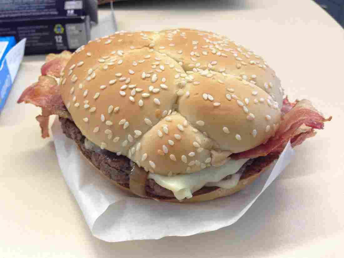 Cheddar*, Bacon, Onion.