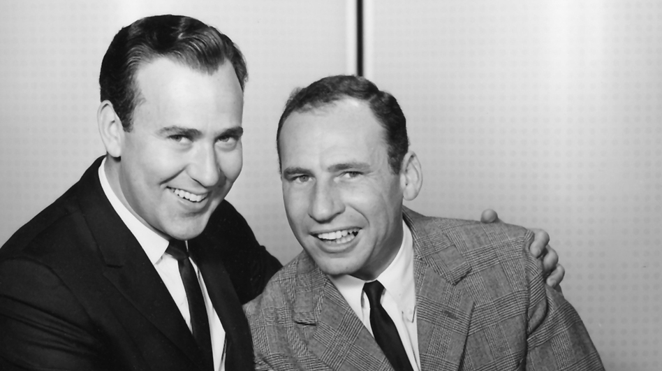 """The new five-DVD, one-CD box set <em>The Incredible Mel Brooks</em> is crammed full with comedy gold — and includes Brooks and Carl Reiner (above) doing their iconic skit """"The 2,000-Year-Old Man."""""""