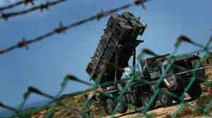 An Israeli army Patriot missile battery is deployed at an unidentified base in central Israel.