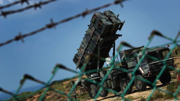 An Israeli army Patriot missile battery is deployed at an unidentified base in central Israel. (Getty Images)