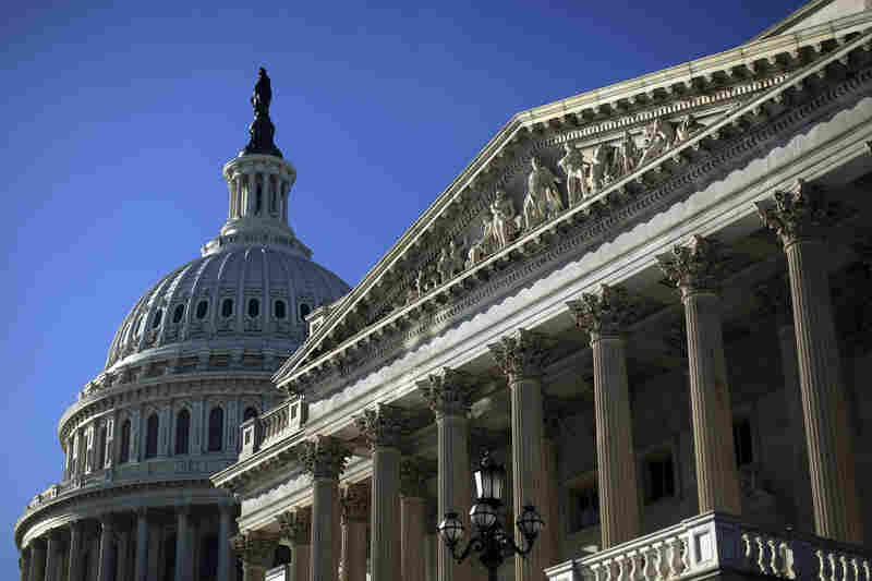 The Senate side of the U.S. Capitol.