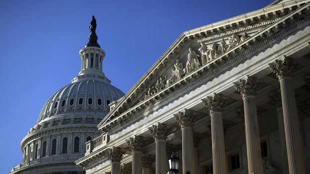 The Senate side of the U.S. Capitol. (Getty Images)