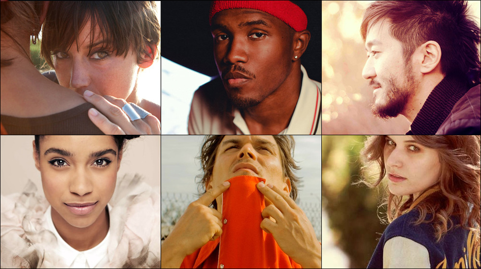 Clockwise from upper left: Cat Power, Frank Ocean, Kishi Bashi, Best Coast and Miguel — just a few of our favorite artists of 2012. (Courtesy of the artists)