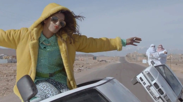 M.I.A. rocks out in 2012. ( )