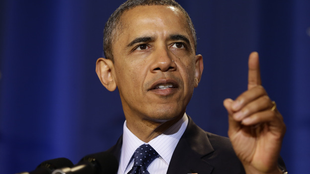 President Obama speaks at the National Defense University in Washington on Monday. Since his re-election four weeks ago, Obama is showing signs of a new, more aggressive leadership style. (AP)