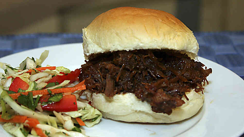 Asian-Style Pork Shoulder on a bun