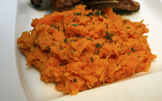 Mashed Sweet Potatoes With Rosemary And Parmigiano