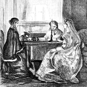 Tea a dangerous habit? Women have long made a ritual of it, but in 19th century Ireland, moral reformers tried to talk them out of it. At the time, tea was considered a luxury, and taking the time to drink it was an affront to the morals of frugality and restraint.