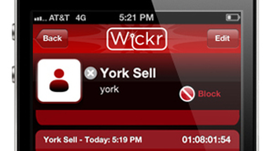The Wickr iPhone app allows users to create self-destructing messages. (Wickr)