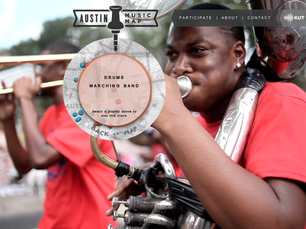 The Austin Music Map celebrates the city's annual Juneteenth Parade.