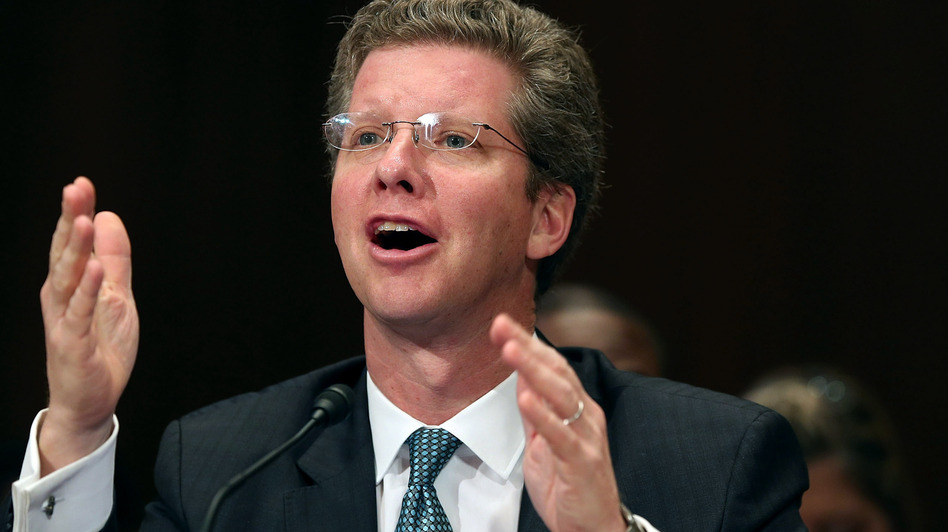 Housing and Urban Development Secretary Shaun Donovan testifies about the damage caused by Hurricane Sandy during a Senate Appropriations Committee hearing Wednesday in Washington, D.C. (Getty Images)