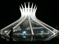 Brasilia's Cathedral was inaugurated in 1960.