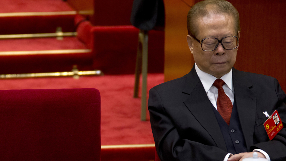 Even the party's top brass isn't immune to the siren call of the snooze: Jiang Zemin, formerly China's president and top party leader, dozes while then-Chinese President and Chinese Communist Party General Secretary Hu Jintao reads a work report during the opening session of 18th Communist Party Congress at the Great Hall of the People in Beijing, Nov. 8. (AP)