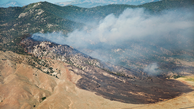 The Constantina Fire burning in Long Valley, Calif., in 2010, very likely started in cheatgrass. (Courtesy of Nolan Preece)