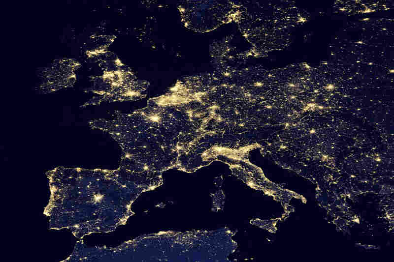 New nasa images show the earths electric light show the picture europe sciox Choice Image