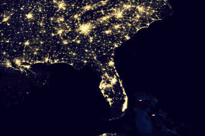 Floridia Map NASA Night Lights Pics About Space - Us map at night from space