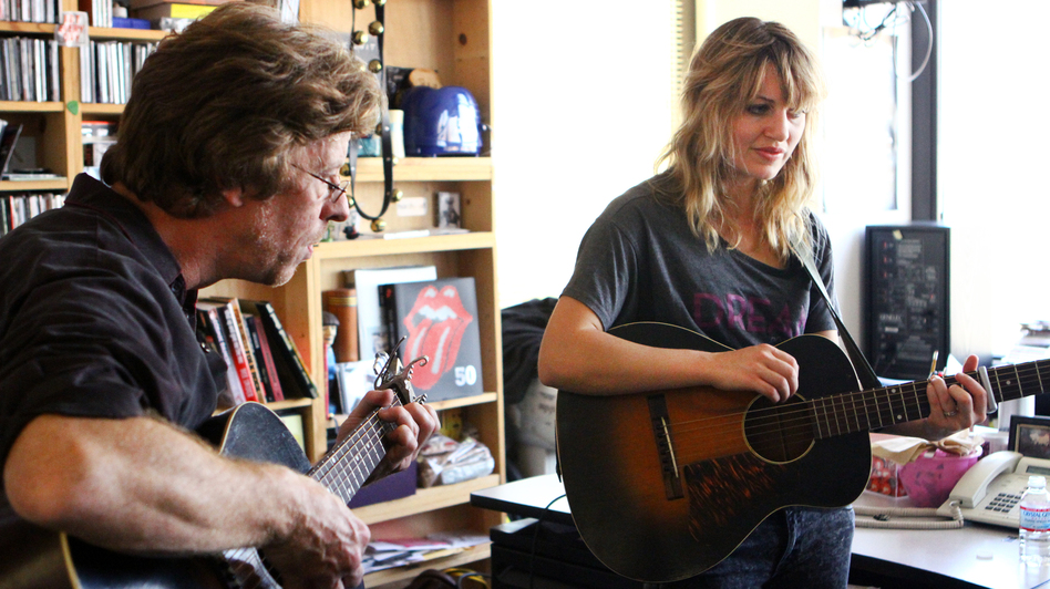 Anais Mitchell performs a Tiny Desk Concert on Oct. 23, 2012. (Lauren Rock/NPR)