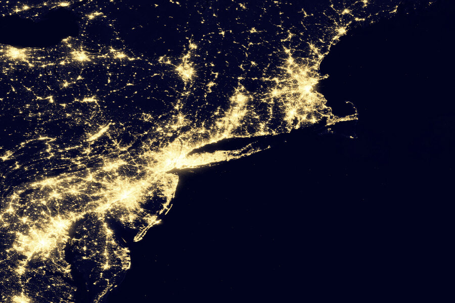 New NASA Images Show The Earths Electric Light Show The Picture - Satellite map of se us at night