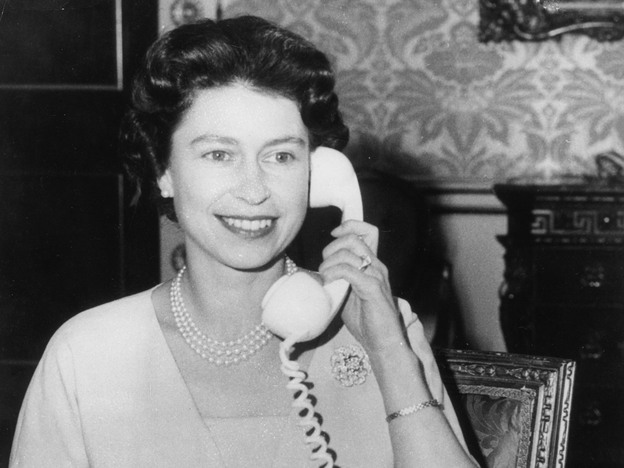 Hullo: The real Queen Elizabeth II, we swear, in 1961.