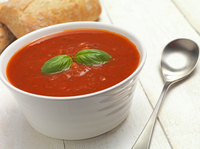 In an experiment, people who saw a picture of a big bowl of soup before eating lunch were less hungry a few hours later than those who saw a smaller bowl, regardless of how much they ate at the meal.