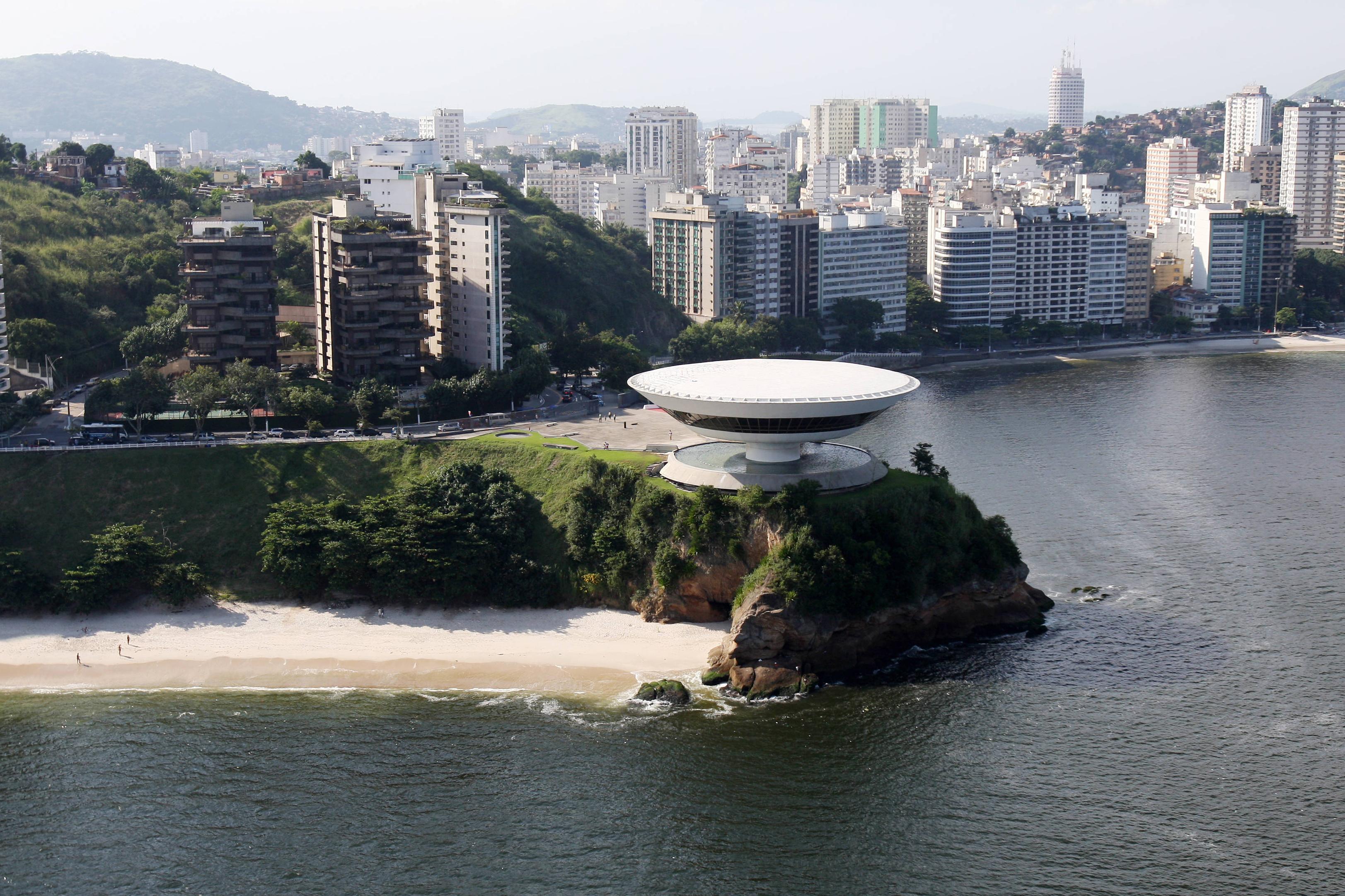The Niteroi Museum of Contemporary Art near Rio de Janeiro, built in 1991.