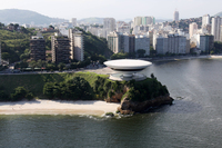 The Niteroi Museum of Contemporary Art near Rio de Janeiro, built in 1991.