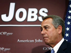 House Speaker John Boehner appears at a news conference after a House Republican conference meeting Wednesday on Capitol Hill.