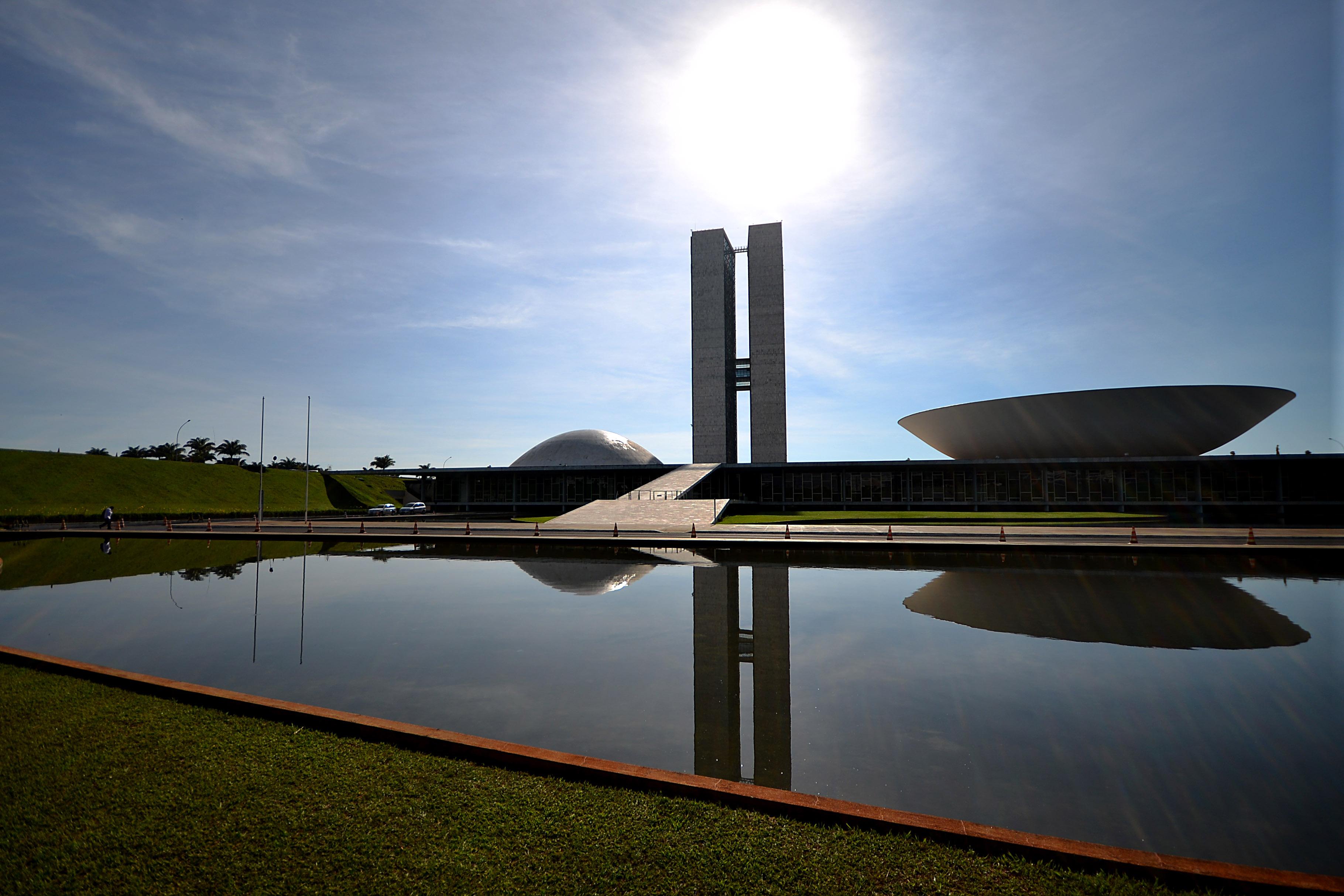 The National Congress building in Brasilia.