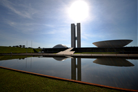 The National Congress building in Brasilia.