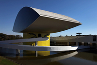 The Oscar Niemeyer Museum, inaugurated in 2002, the largest museum in Latin America, is in Curitiba, the capital of the state of Parana, Brazil. Curitiba, considered an outstanding example of urban planning worldwide and the ecological capital of Brazil, was chosen as one of the 12 host cities for the 2014 soccer World Cup.