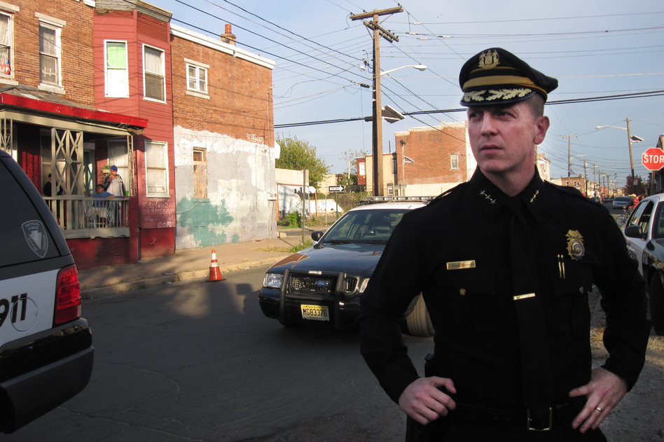 "Camden City Police Chief Scott Thomson says he has shooting investigations ""backlogging like burglary cases."" Half of his force was laid off last year, and the city says expensive benefits in the police union contract are preventing them from hiring more cops."