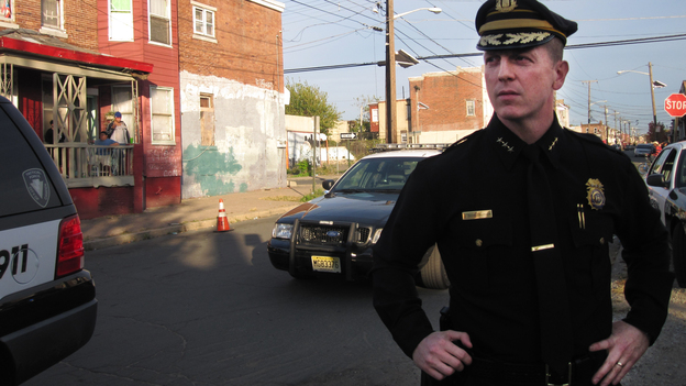 """Camden City Police Chief Scott Thomson says he has shooting investigations """"backlogging like burglary cases."""" Half of his force was laid off last year, and the city says expensive benefits in the police union contract are preventing them from hiring more cops. (NPR)"""