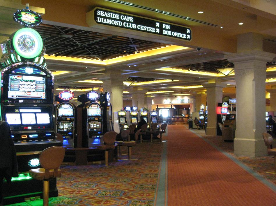 At Atlantic City's Tropicana Casino resort, business has been slow since Hurricane Sandy, but it's starting to pick up again. (David Schaper/NPR)