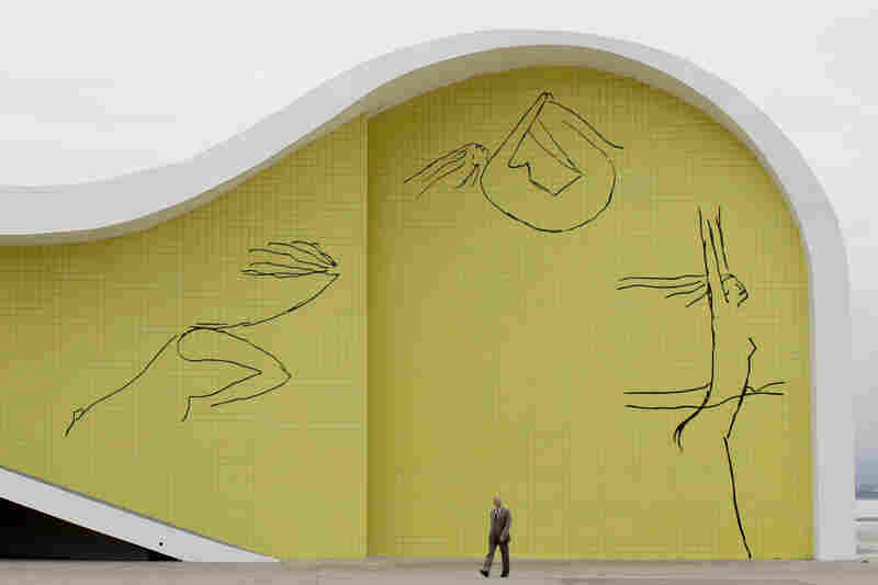 Part of Niemeyer's foundation building in Niteroi, Brazil, 2010.