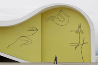 Part of Niemeyer's foundation building in Niteroi, Brazil, 2010.