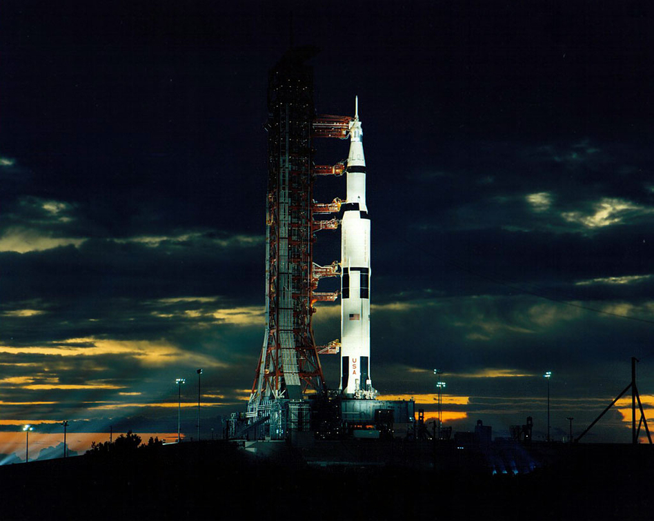 Apollo 17 blasted off just after midnight on Dec. 7, 1972. (NASA)