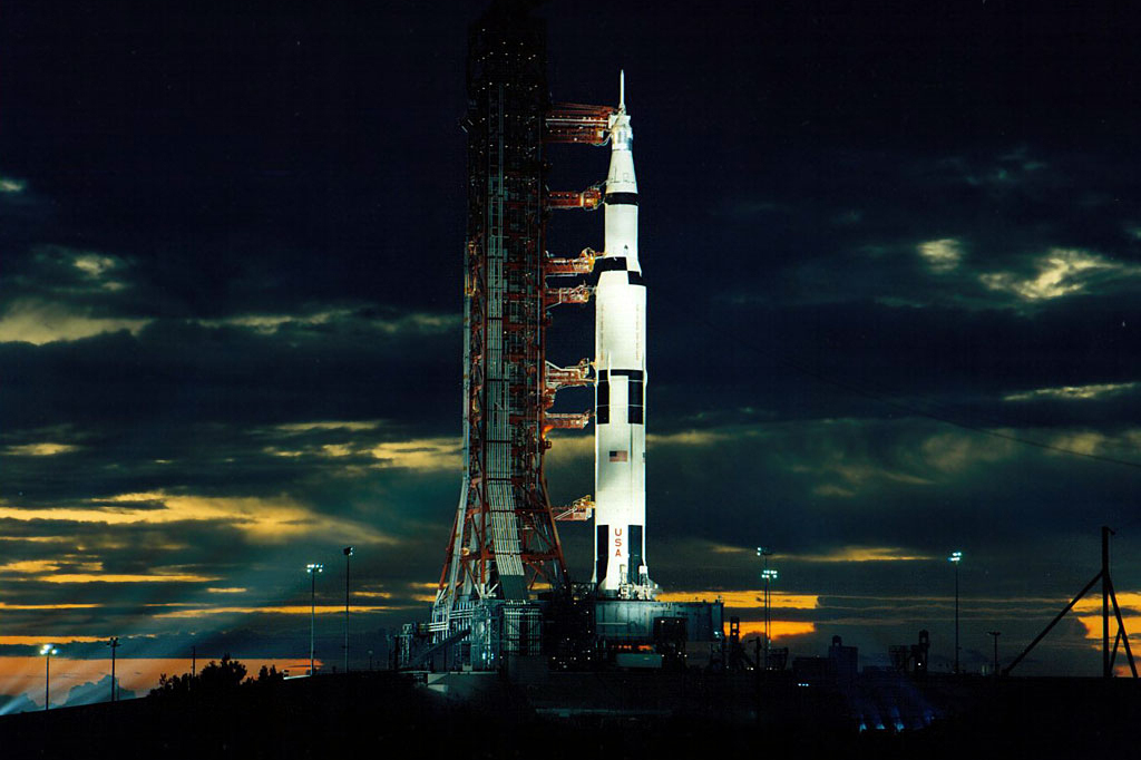 Apollo 17 blasted off just after midnight on Dec. 7, 1972.