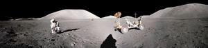During their stay on the moon, the astronauts set up scientific experiments, took photographs and collected lunar samples.