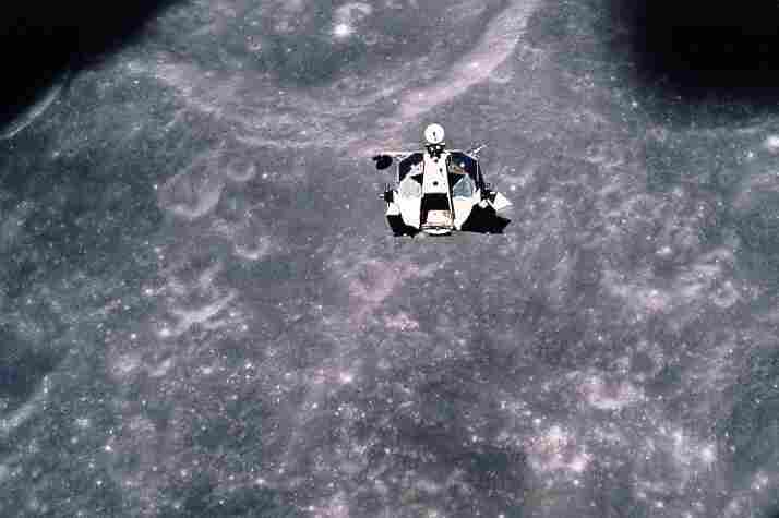 Apollo 17's lunar module rendezvous with the command module.