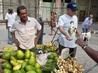 Cuba has relaxed some business rules, allowing street vendors to sell produce and a large wholesale produce market to open at night on the edge of Havana.