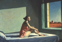 Edward and Josephine Hopper met as young students in art school in New York and married in 1924. Josephine was his only female model, and posed for his  1952 work, Morning Sun.