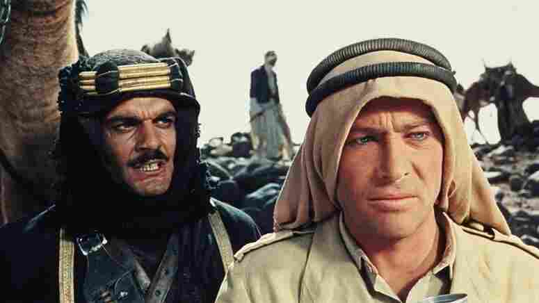 Sherif Ali (Omar Sharif) and T.E. Lawrence (Peter O'Toole) fight together in the 1962 epic.