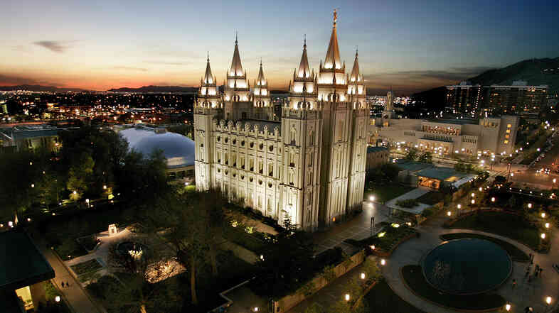 The Church of Jesus Christ of Latter-day Saints headquarters in Salt Lake City, Utah.