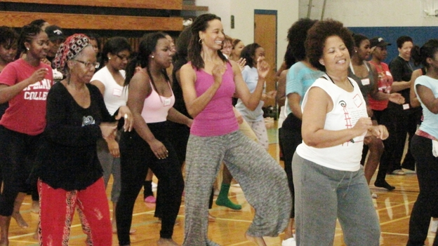 Spelman College has dropped NCAA athletics in favor of a comprehensive fitness program. The school now offers classes like Zumba to help encourage all students to exercise more. (Courtesy of Spelman College)